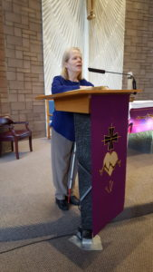 Photo of Donna Slivoski in church